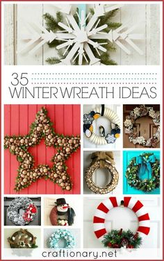 35 Wonderful Winter Wreath Ideas http://www.diyhomeworld.com/35-wonderful-winter-wreath-ideas/