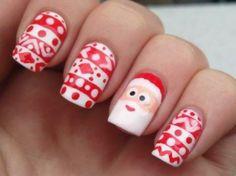 Christmas Nail Designs, winter nails, Christmas nails, festive nails, acrylic na. Christmas Nail Designs, Christmas Nail Art, Holiday Nails, Santa Christmas, Funny Christmas, White Christmas, Xmas, Christmas Snowflakes, Beautiful Christmas