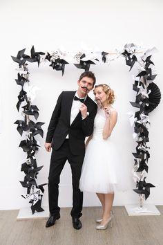 arche en noir et blanc - Photobooth (à encadrer avec initiales géantes)