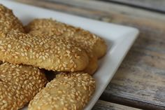 These easy sesame seed cookies are made with butter, vanilla, and toasted sesame seeds. The sesame seed cookies are rolled in more sesame seeds.