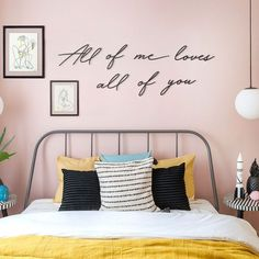 All Of Me Loves All Of You in 2020 | Metal wall hangings, Metal wall letters, Metal wall decor Metal Wall Letters, Letter Wall, Metal Wall Decor, Metal Walls, Metal Wall Art, Bed Wall, Bedroom Wall, Bedroom Ideas, Creative Office Decor