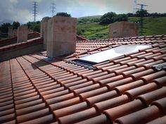 Panel solar en el tejado
