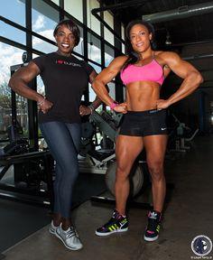 IFBB Pro Olivia Terry & IFBB Pro Asha Hadley, Women's Physique Photography, Women's Bodybuilding Photography, Fitness Photography