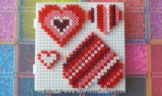 coeurs décorés en perles à repasser