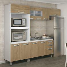 Cozinha decorada, organizada e com mais economia. Os ambientes completos e compactos são ótimas opções para deixar o ambiente do jeitinho que sempre sonhou em apenas alguns cliques. :D