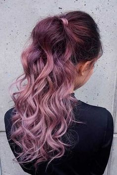 Trendy Hair Color : Chocolate lilac hair: how miraculous it looks dont you think? This new hair Long Hair Cuts, Long Hair Styles, Unicorn Hair Color, New Hair Trends, Hair Shades, Rose Hair, Dream Hair, Cool Hair Color, Bad Hair