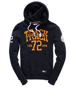Shop Superdry Mens Trackster Hoodie in Truest Navy. Buy now with free delivery from the Official Superdry Store. Superdry Fashion, Superdry Style, Suit Fashion, Mens Fashion, Cool Boys Clothes, Unique Hoodies, Clothing Logo, Swagg, Hooded Sweatshirts