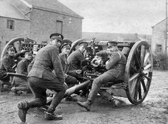 A 13-pound quick firing gun belonging to the Royal Horse Artillery. British gunner had to fire point blank into attacking German infantry after it broke through the I Corps line on November 11, 1914.