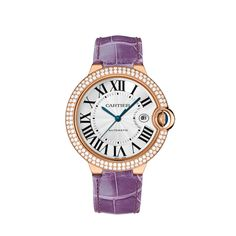 PINK GOLD, DIAMONDS & SAPPHIRE! Ref:WE900851 For VIP price call Ryan 888.432.4367. Floating like a balloon and as blue as the sapphire safely nestled in its side, the Ballon Bleu watch by Cartier adds a dash of elegance to male and female wrists alike. Roman numerals are guided on their path by a sapphire cabochon winding mechanism protected by an arc of precious metal...the Ballon Bleu watch by Cartier floats through the world of watchmaking.