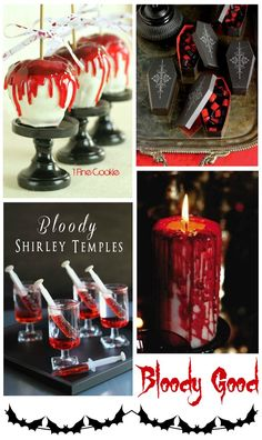 Vampire Dracula Theme Halloween Party Decor & Food Drink Ideas foxhollowcottage.com