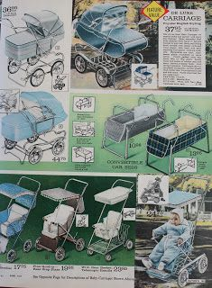 This time I'm featuring the baby section from my Eaton's winter catalogue from 1961 - these are such fun posts to do - I've done two othe. Retro Baby, Vintage Pram, Vintage Toys, Vintage Stuff, My Childhood Memories, Childhood Toys, Sweet Memories, Prams And Pushchairs, Dolls Prams