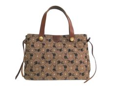 #ILBISONTE Tote bag Canvas/Leather Brown/Black (BF111266): #eLADY global accepts returns within 14 days, no matter what the reason! For more pre-owned luxury brand items, visit http://global.elady.com