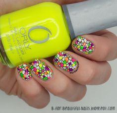 B for Beautiful Nails: Neon Stamping Nail Art Tutorial ♥