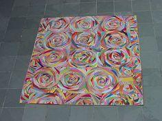 Turning circles - União de Retalhos por Adriana Nalin posted on Flickr - Toda a lenda - Levou 1 ano e quatro meses p/ ficar pronta!