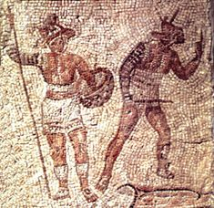 Gladiators were depicted by the kind of armor they wore, weapons used and how they fought.