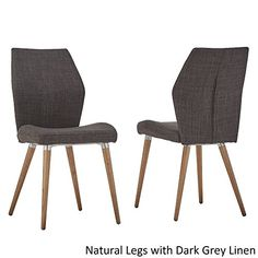 MID CENTURY LIVING Abelone Contour Upholstered Side Dining Chairs (Set Of  2) Natural