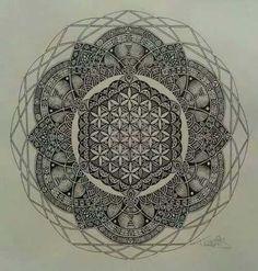 New Tattoo Flower Of Life Mandala Sacred Geometry Ideas Arrow Tattoos, Feather Tattoos, Nature Tattoos, Flower Tattoos, Trendy Tattoos, New Tattoos, Tattoos For Guys, Cool Tattoos, Tatoos
