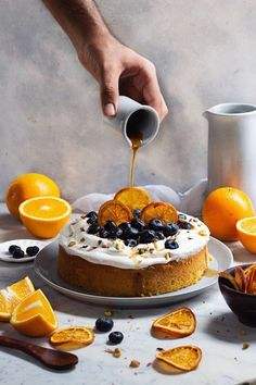ORANGE CAKE WITH MASCARPONE FROSTING - Bake with Shivesh