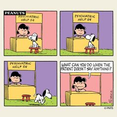 Thursday with Snoopy and Lucy.