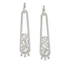 Tibete Earrings: white gold 18K, moonstones and diamonds. H. Stern, Brazil.