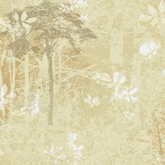 Wilderness Wallpaper in Taupe and Beige design by Ronald Redding