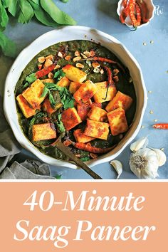 If you're going to make saag paneer, skip the coconut or cashew-laden versions opt for this super authentic recipe. Paneer Recipes, Keto Recipes, Vegetarian Recipes, Cooking Recipes, Cooking Food, Easy Vegetarian Dinner, Yummy Veggie, Saag, Eastern Cuisine