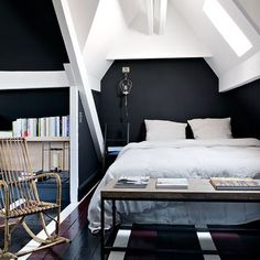 black and white room..... someday! And add a little red (;