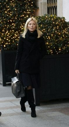 Princess Marie Chantal of Greece living the Hediard luxury shop in Paris, 12.12.13