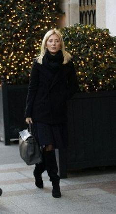 Princess Marie Chantal of Greece leaving the Hediard luxury shop in Paris, 12.12.13