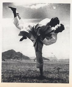 Carlos Gracie and Helio Gracie