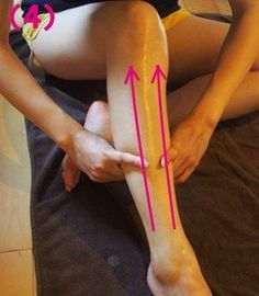 Leg massage at home