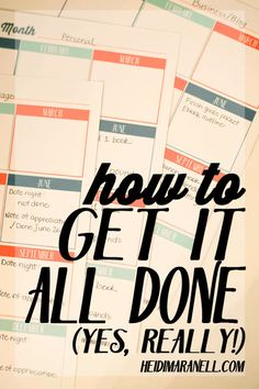 My secret to how I get it all done and you can too! See the process I have for creating goals, breaking them down and creating my daily to-do lists!