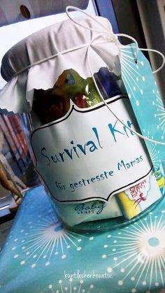 Geschenk im Glas für eine frischgebackene Mama oder Papa oder Eltern...auch gut abwandelbar als Geschenk für Geburtstage z.b. für die beste Freundin...