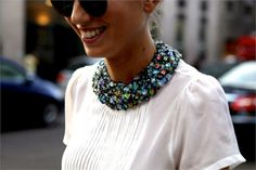 Jeweled Collar - Best Detachable Collars For Fall Mode Chic, Mode Style, Style Me, Faux Col, Maxi Collar, Neck Collar, Estilo Tropical, Trends, Fashion Essentials