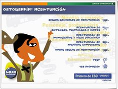Has TONS of explanations, activities in Spanish on accents, alphabet, etc. Spanish Alphabet, Ap Spanish, Spanish Courses, Spanish Classroom, Classroom Resources, Language, Teacher, Ideas Para, Activities