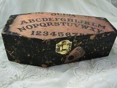 Ouija Board Coffin Trinket Box Decor
