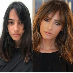 Mind Blowing Hair Transformation Before & After Photos - Gallery OMG-Worthy Transformations - Behind Hairstyles With Bangs, Pretty Hairstyles, Easy Hairstyles, Full Fringe Hairstyles, Oblong Face Hairstyles, Braided Hairstyle, Hair Updo, Wedding Hairstyle, Hair Wedding