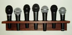 Wall mounted microphone holders