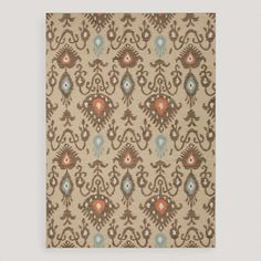 One of my favorite discoveries at WorldMarket.com: Tan Jatana Flat-Woven Wool Rug