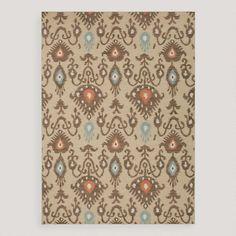 One of my favorite discoveries at WorldMarket.com: Tan Jatana Flat-Woven Wool Rug