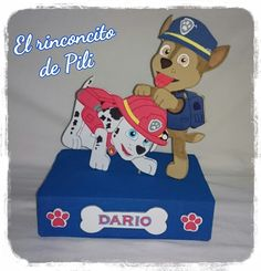 Centro de mesa cumpleaños Patrulla Canina #patrullacanina Paw Patrol Party, Paw Patrol, Party