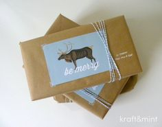 kraft&mint gift wrapping and freebie