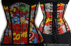 Marvel Long Line Corset by castlecorsetry on Etsy, $275.00