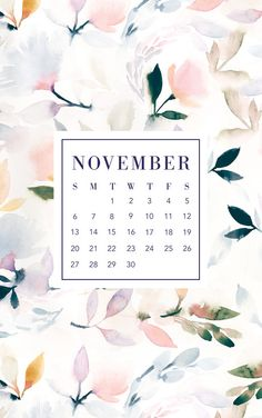 Freshen up your mobile or desktop backgrounds with these trendy free digital wallpapers! Perfect way to have a calendar on you at all times.