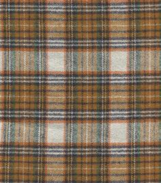 Trending Now in Fabric Plaid Fabric, Cotton Fabric, Joanns Fabric And Crafts, Cute Cards, Craft Stores, Fabric Patterns, Orange, Gold, Black