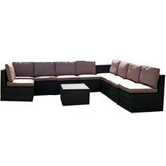 http://ift.tt/1OgYwNJ Gartenmöbel 10tlg. Sitzgruppe Poly Rattan Lounge Garten Garnitur ecru #nanytil$