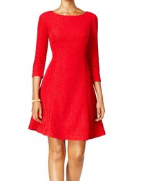 Cool Great Jessica Howard NEW Red Glitter Women's Size 10 Textured A-Line Dress $109 #061 2017 2018 Check more at http://fashion-look.top/product/great-jessica-howard-new-red-glitter-womens-size-10-textured-a-line-dress-109-061-2017-2018/