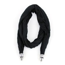 Black Scarf, Two Connector Ends