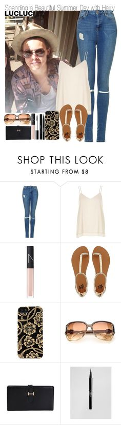 """Spending a Beautiful Summer Day with Harry & HAPPY EASTER!"" by elise-22 ❤ liked on Polyvore featuring Topshop, River Island, NARS Cosmetics, 2b bebe, Incase, Retrò, Stila and shu uemura"