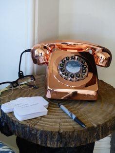 Retro Copper Telephone